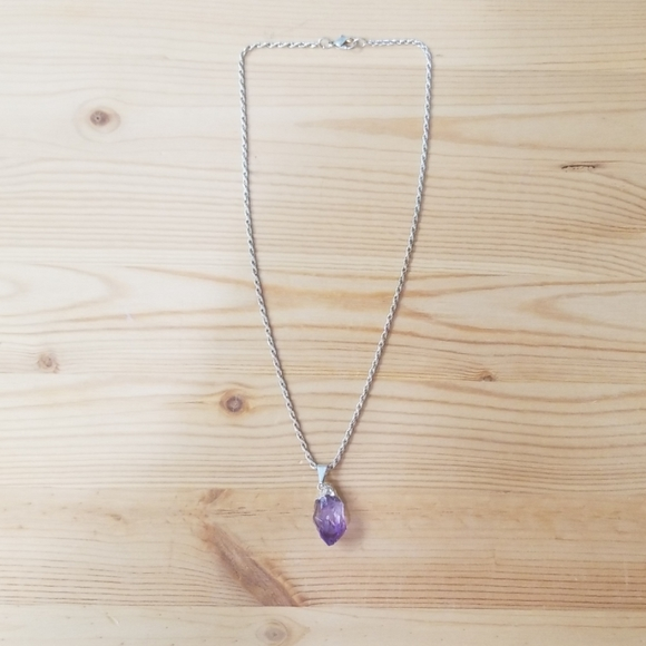 Jupiter's Shadow Jewelry - Sterling dipped amethyst pendant w/chain